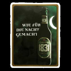 1831 Blechschild